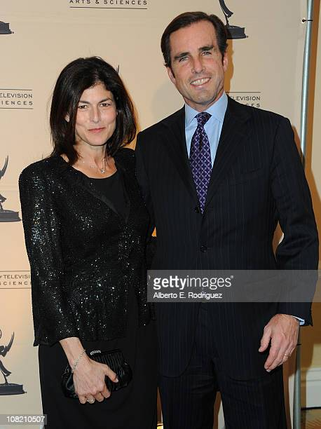 Producer Kayce Freed and journalist Bob Woodruff arrive to the Academy of Television Arts Sciences' Hall of Fame Committe's 20th Annual Induction...