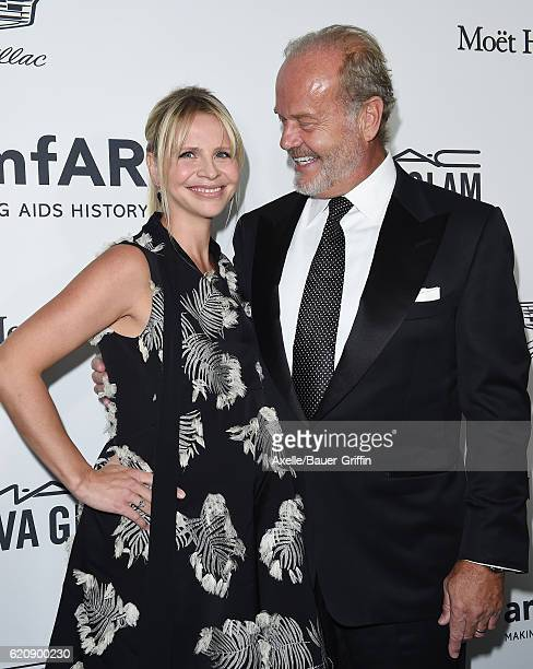 Producer Kayte Walsh and actor Kelsey Grammer arrive at amfAR's Inspiration Gala Los Angeles at Milk Studios on October 27 2016 in Hollywood...