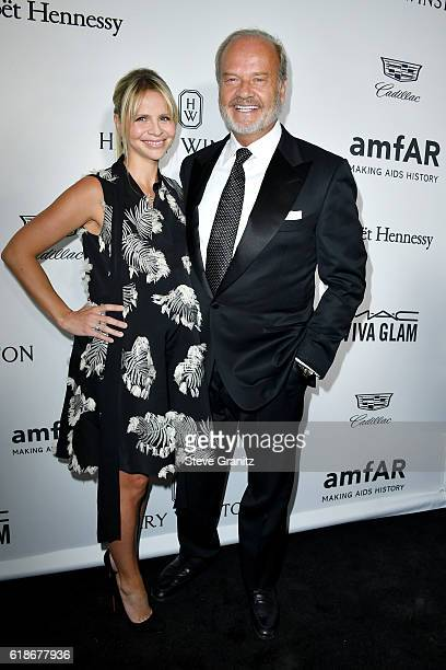 Producer Kayte Walsh and actor Kelsey Grammer attend amfAR's Inspiration Gala Los Angeles at Milk Studios on October 27 2016 in Hollywood California