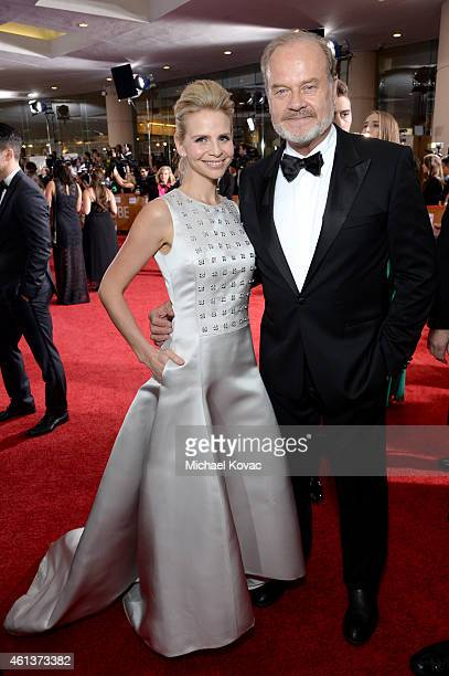 Producer Kayte Walsh and actor Kelsey Grammer attend the 72nd Annual Golden Globe Awards at The Beverly Hilton Hotel on January 11 2015 in Beverly...