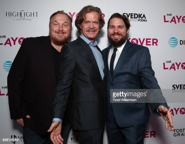 Producer Keith Kjarval Director William H Macy and CoProducer Tyler Jackson attend the premiere of DIRECTV And Vertical Entertainment's 'The Layover'...