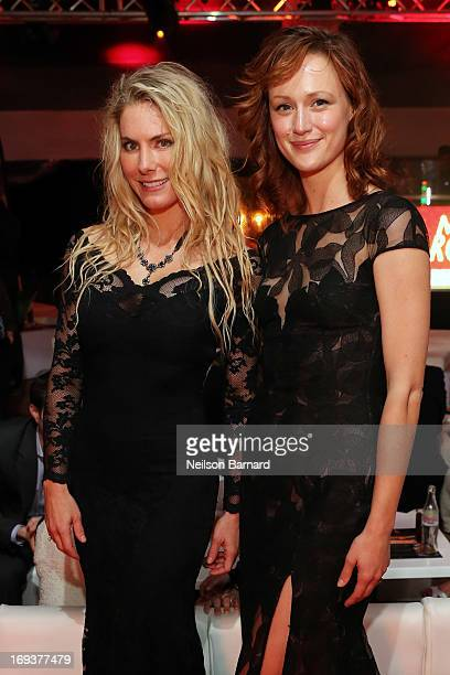 Producer Kelly Greyson and actress Kerry Bishe attend the official after party for 'Max Rose' at The 66th Annual Cannes Film Festival at Torch at...