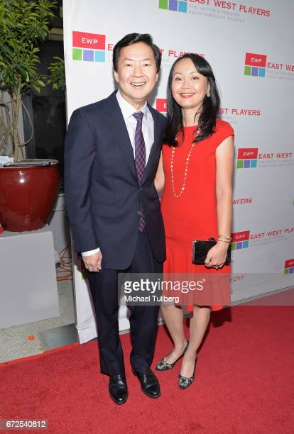 Producer Ken Jeong and wife Tran Ho attend the East West Players Radiant 51st Anniversary Visionary Awards and silent auction at Hilton Universal...