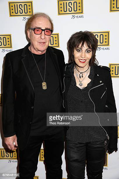 Producer Kenny Laguna and musician Joan Jett attends the USO 75th Anniversary Armed Forces Gala Gold Medal Dinner at Marriott Marquis Times Square on...