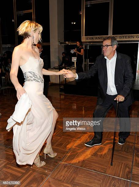 Producer Kenny Ortega and actress Jenna Elfman attend Dizzy Feet Foundation's Celebration Of Dance Gala at The Music Center on July 19 2014 in Los...