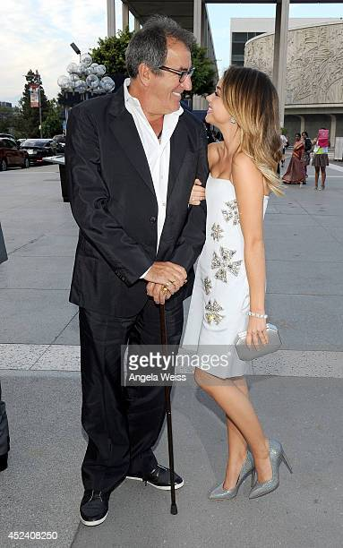 Producer Kenny Ortega and actress Sarah Hyland attend Dizzy Feet Foundation's Celebration Of Dance Gala at The Music Center on July 19 2014 in Los...