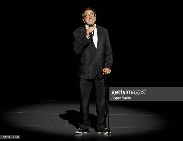 Producer Kenny Ortega speaks onstage during Dizzy Feet Foundation's Celebration Of Dance Gala at The Music Center on July 19 2014 in Los Angeles...