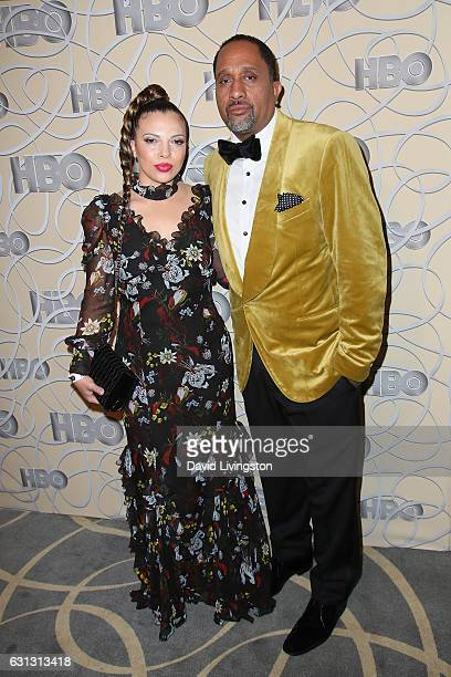 Producer Kenya Barris and Dr Rainbow EdwardsBarris arrive at HBO's Official Golden Globe Awards after party at the Circa 55 Restaurant on January 8...