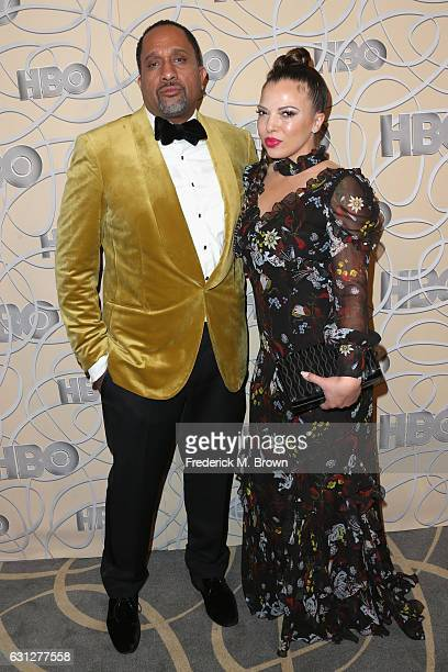 Producer Kenya Barris and Dr Rainbow EdwardsBarris attend HBO's Official Golden Globe Awards After Party at Circa 55 Restaurant on January 8 2017 in...