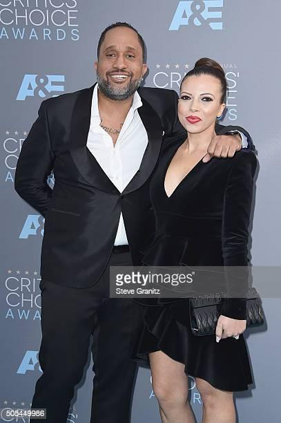 Producer Kenya Barris and Dr Rainbow EdwardsBarris attend the 21st Annual Critics' Choice Awards at Barker Hangar on January 17 2016 in Santa Monica...