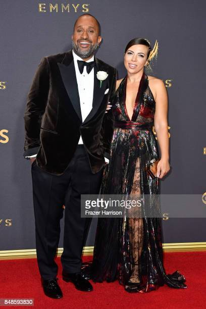 Producer Kenya Barris and Dr Rainbow EdwardsBarris attend the 69th Annual Primetime Emmy Awards at Microsoft Theater on September 17 2017 in Los...