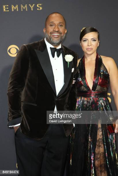Producer Kenya Barris and Dr Rainbow EdwardsBarris attend the 69th Annual Primetime Emmy Awards Arrivals at Microsoft Theater on September 17 2017 in...