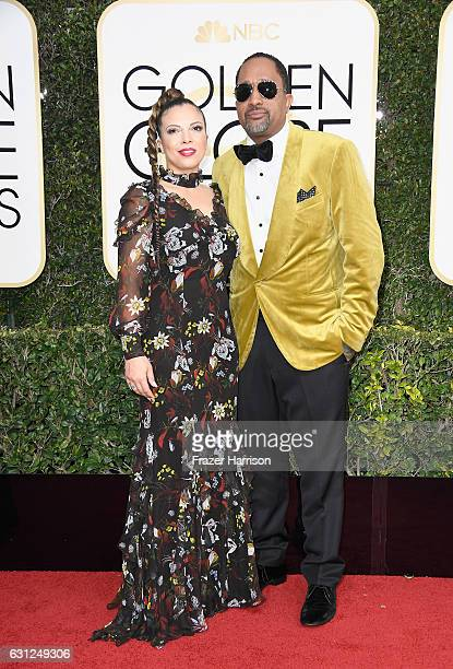 Producer Kenya Barris and Dr Rainbow EdwardsBarris attend the 74th Annual Golden Globe Awards at The Beverly Hilton Hotel on January 8 2017 in...