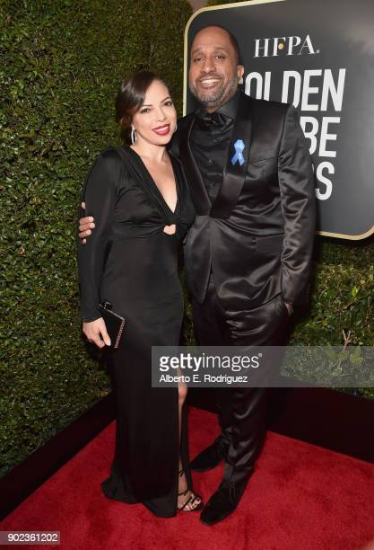 Producer Kenya Barris and Dr Rainbow EdwardsBarris attend The 75th Annual Golden Globe Awards at The Beverly Hilton Hotel on January 7 2018 in...