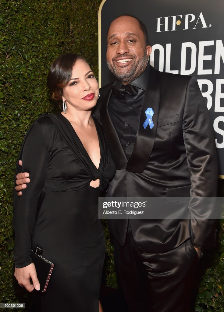 Producer Kenya Barris (R) and Dr. Rainbow Edwards-Barris attend The 75th Annual Golden Globe Awards at The Beverly Hilton Hotel on January 7, 2018 in Beverly Hills, California.