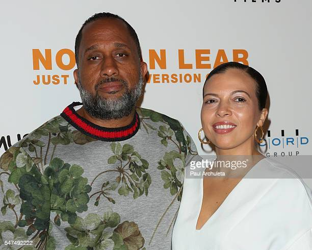 Producer Kenya Barris and his Wife Dr Rainbow EdwardsBarris attend the premiere of Norman Lear Just Another Version Of You at The WGA Theater on July...