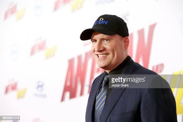 Producer Kevin Feige attends the Los Angeles Global Premiere for Marvel Studios' AntMan And The Wasp at the El Capitan Theatre on June 25 2018 in...