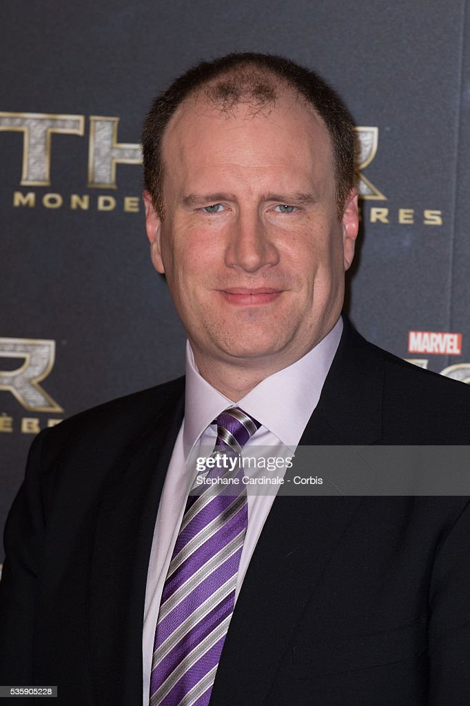 Producer Kevin Feige attends 'Thor: The Dark World' Premiere at Le Grand Rex Cinema, in Paris.