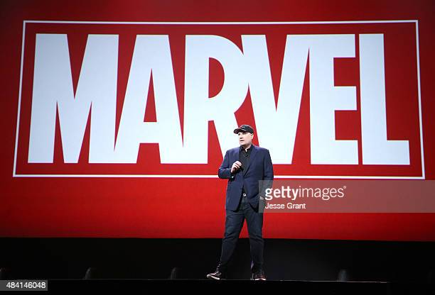 Producer Kevin Feige of CAPTAIN AMERICA CIVIL WAR took part today in Worlds Galaxies and Universes Live Action at The Walt Disney Studios...