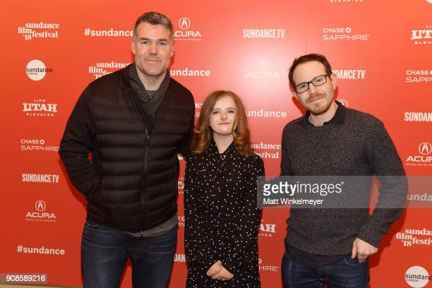 Producer Kevin Frakes actor Milly Shapiro and director Ari Aster attend the Hereditary Premiere during the 2018 Sundance Film Festival at Egyptian...