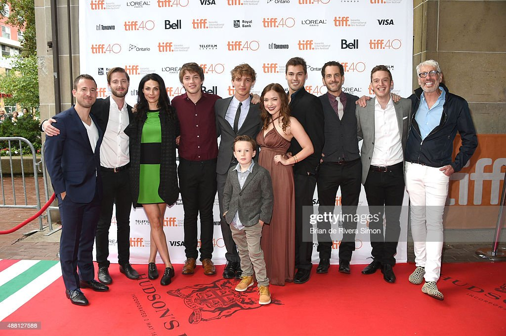 Producer Kevin Krikst, director Stephen Dunn, actress Joanne Kelly, actor Connor Jessup, actor Aliocha Schneider, Jack Fulton, actress Sofia Banzhaf, guest, actor Aaron Abrams, producer Fraser Ash and producer Niv Fichman attend 'Closet Monster' photo call during the 2015 Toronto International Film Festival at Ryerson Theatre on September 13, 2015 in Toronto, Canada.