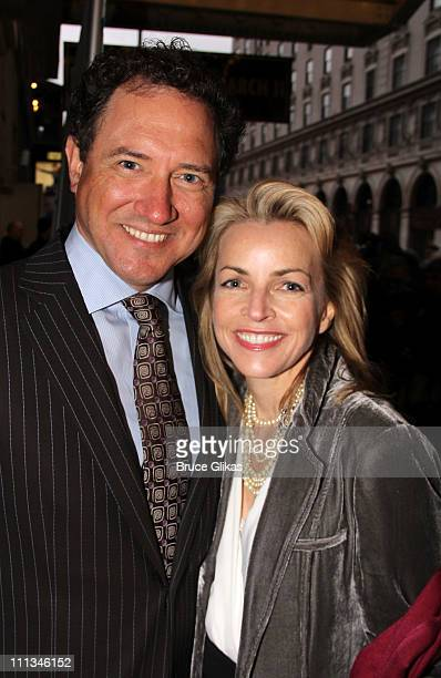 Producer Kevin McCollum and wife Lynnette PerryMcCollum pose at The Opening Night of Bengal Tiger at the Baghdad Zoo on Broadway at Richard Rodgers...