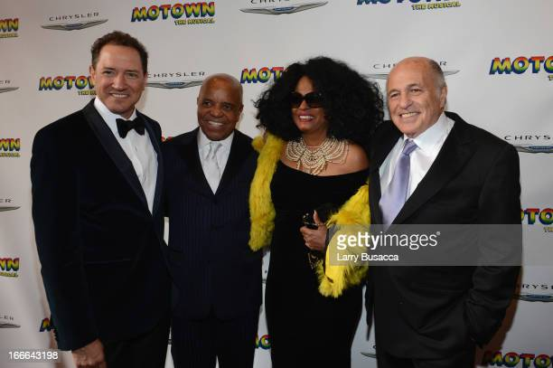 Producer Kevin McCollum, Record Producer Berry Gordy, Performer Diana Ross, and Chairman and CEO of Sony Music Entertainment Doug Morris attend...
