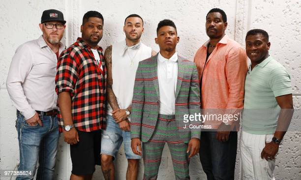 Producer Kevin Mullens producer Rhyan LaMarr actor Don Benjamin actor Bryshere Y Gray actor Mykelti Williams and producer Bishop Eric Garnes pose for...