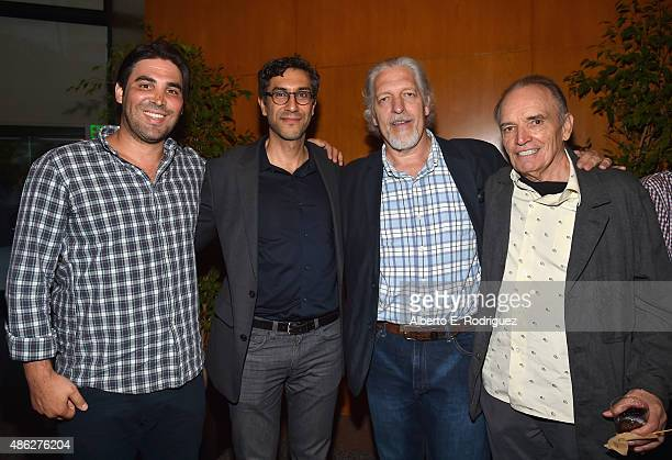 Producer Kevin Turen director Ramin Bahrani actor Clancy Brown and actor Tom Bower attend a special screening of '99 Homes' on September 2 2015 in...