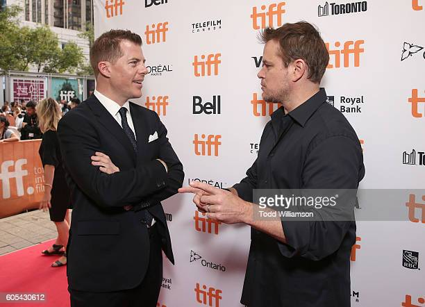 Producer Kevin Walsh and Producer Matt Damon attend Amazon Studios' 'Manchester By The Sea' Toronto International Film Festival Premiere at Princess...