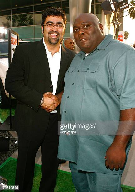 Producer Kia Jam and Faizon Love arrive at the Los Angeles premiere of Who's Your Caddy at the Arclight Theater on July 23 2007 in Hollywood...