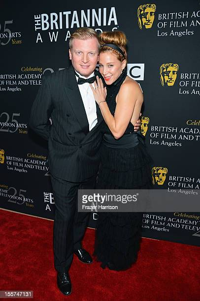Producer Kris Lythgoe and actress Becky Baeling arrive at the 2012 BAFTA Los Angeles Britannia Awards Presented By BBC AMERICA at The Beverly Hilton...