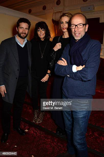 Producer Kris Thykier Claudia Winkleman Laura Bailey and producer Eric Fellner attend the screening of 'Trash' hosted by Claudia Winkleman Emma Freud...