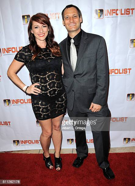 Producer Kristen Nedopak of 'The Geekie Awards' and founder of InfoList Jeff Gund arrive for the InfoList PreOscar Soiree And Birthday Party for Jeff...