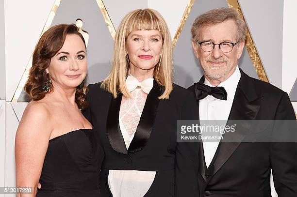 Producer Kristie Macosko Krieger actress Kate Capshaw and director Steven Spielberg attend the 88th Annual Academy Awards at Hollywood Highland...