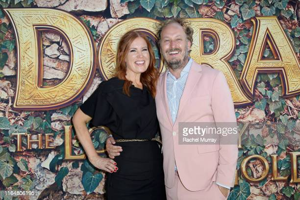 """Producer Kristin Burr and Director James Bobin attend the """"Dora and the Lost City of Gold"""" World Premiere at the Regal LA Live on July 28, 2019 in..."""