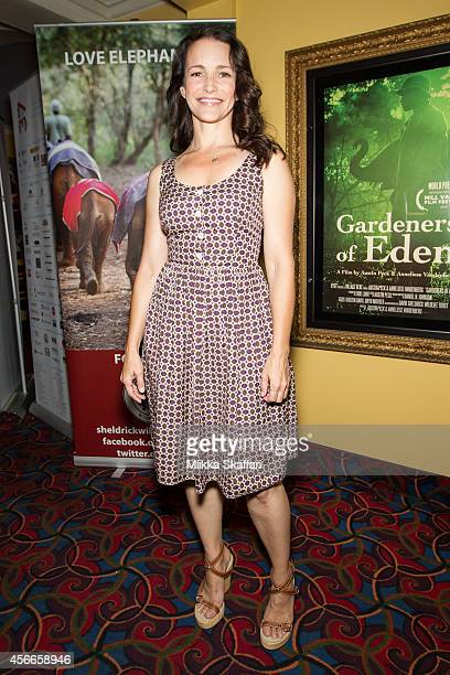 Producer Kristin Davis arrives at the premiere of 'Gardeners Of Eden' at Sequoia Theater on October 4 2014 in Mill Valley California