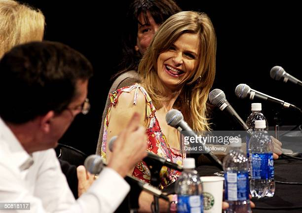 Producer Kurt Anderson and Kyra Sedgwick at the Found In Translation How Women Make Movies on the panel during the 2004 Tribeca Film Festival May 9...