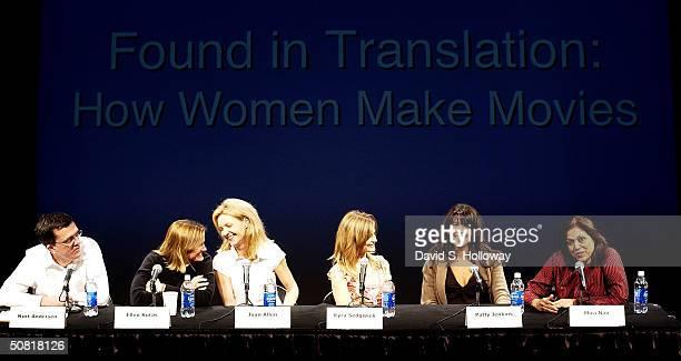 Producer Kurt Anderson cinematographer Ellen Kuras Joan Allen Kyra Sedgwick Patty Jenkins and director Mira Nair at the Found In Translation How...