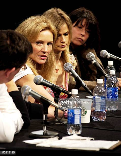 Producer Kurt Anderson Joan Allen Kyra Sedgwick and Patty Jenkins at the Found In Translation How Women Make Movies on the panel during the 2004...