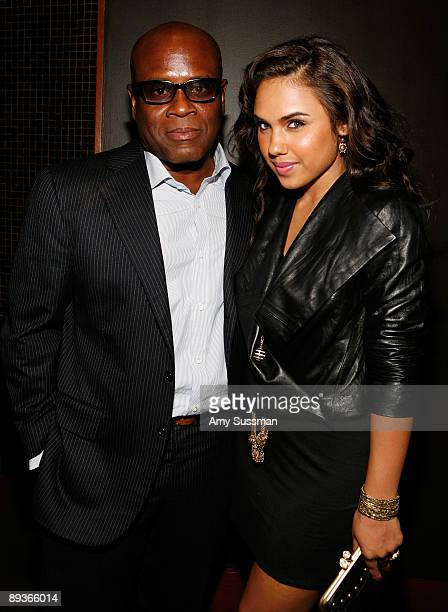 Producer LA Reid and singer Kristinia DeBarge attend a special screening of 'Loso's Way' at Tribeca Grand Hotel on July 27 2009 in New York City