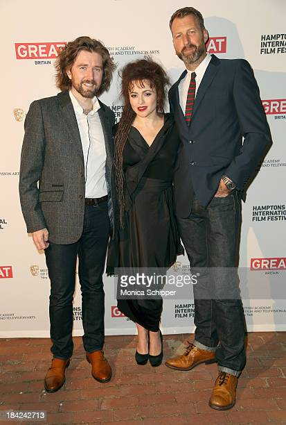 Producer Lachlan MacKinnon actress Helena Bonham Carter and director Richard Laxton attend the 21st Annual Hamptons International Film Festival on...