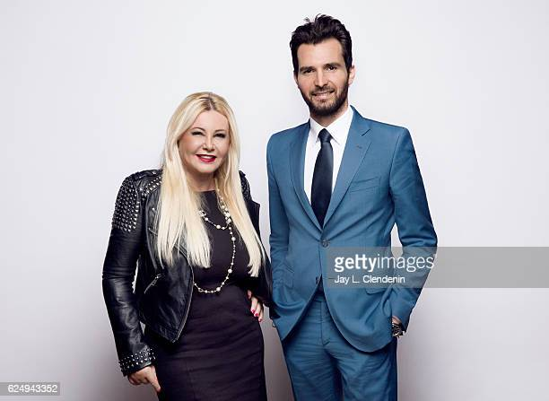 Producer Lady Monika Bacardi and producer Andrea Iervolino from the film In Dubious Battle pose for a portraits at the Toronto International Film...