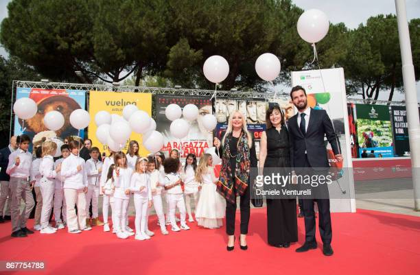 Producer Lady Monika Bacardi director Graciela Rodrioguez and producere Andrea Iervolino walk a red carpet for Beyond the Sun Red Carpet during the...