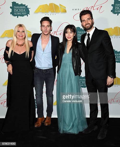Producer Lady monika bacardi Jonathan Rhys Meyers Mara Lane and producer Andrea Iervolino attend AMBI GALA in honor of Antonio Banderas and Jonathan...