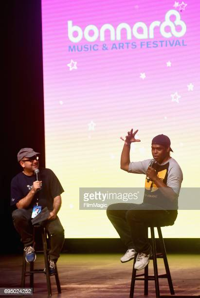 Producer Lance Crouther speaks onstage during 'Pootie Tang' at the Comedy Cinema tent during Day 4 of the 2017 Bonnaroo Arts And Music Festival on...