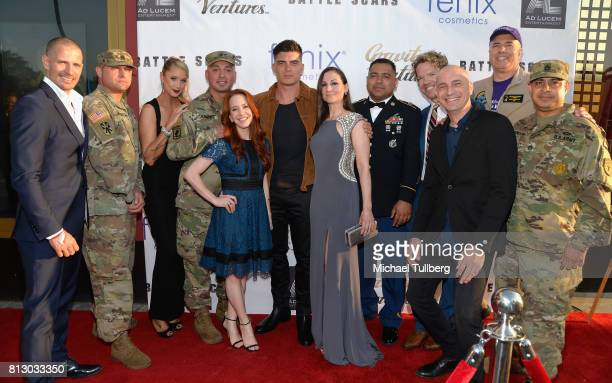 Producer Lane Carlson soldier actor Kristen Renton soldier actors Amy Davidson and Zane Holtz actress/producer Heather McComb soldier executive...
