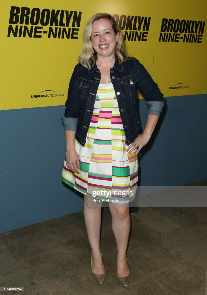 Producer Lang Fisher attends Universal Television's FYC of 'Brooklyn Nine-Nine' at UCB Sunset Theater on June 13, 2018 in Los Angeles, California.