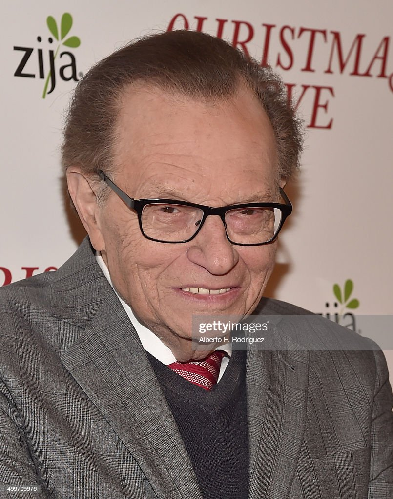 Producer Larry King attends the premiere of 'Christmas Eve' at ArcLight Hollywood on December 2, 2015 in Hollywood, California.