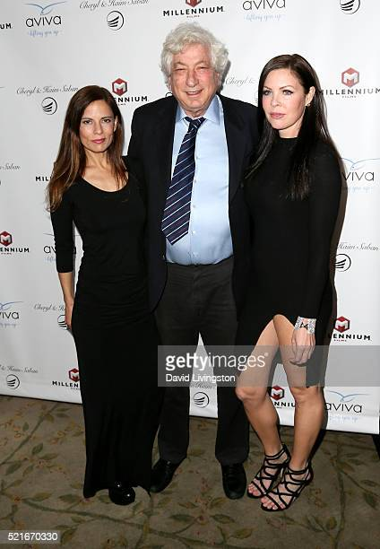 Producer Lati Grobman producer Avi Lerner and actress Christa Campbell attend A Gala to honor Avi Lerner and Millennium Films at The Beverly Hills...